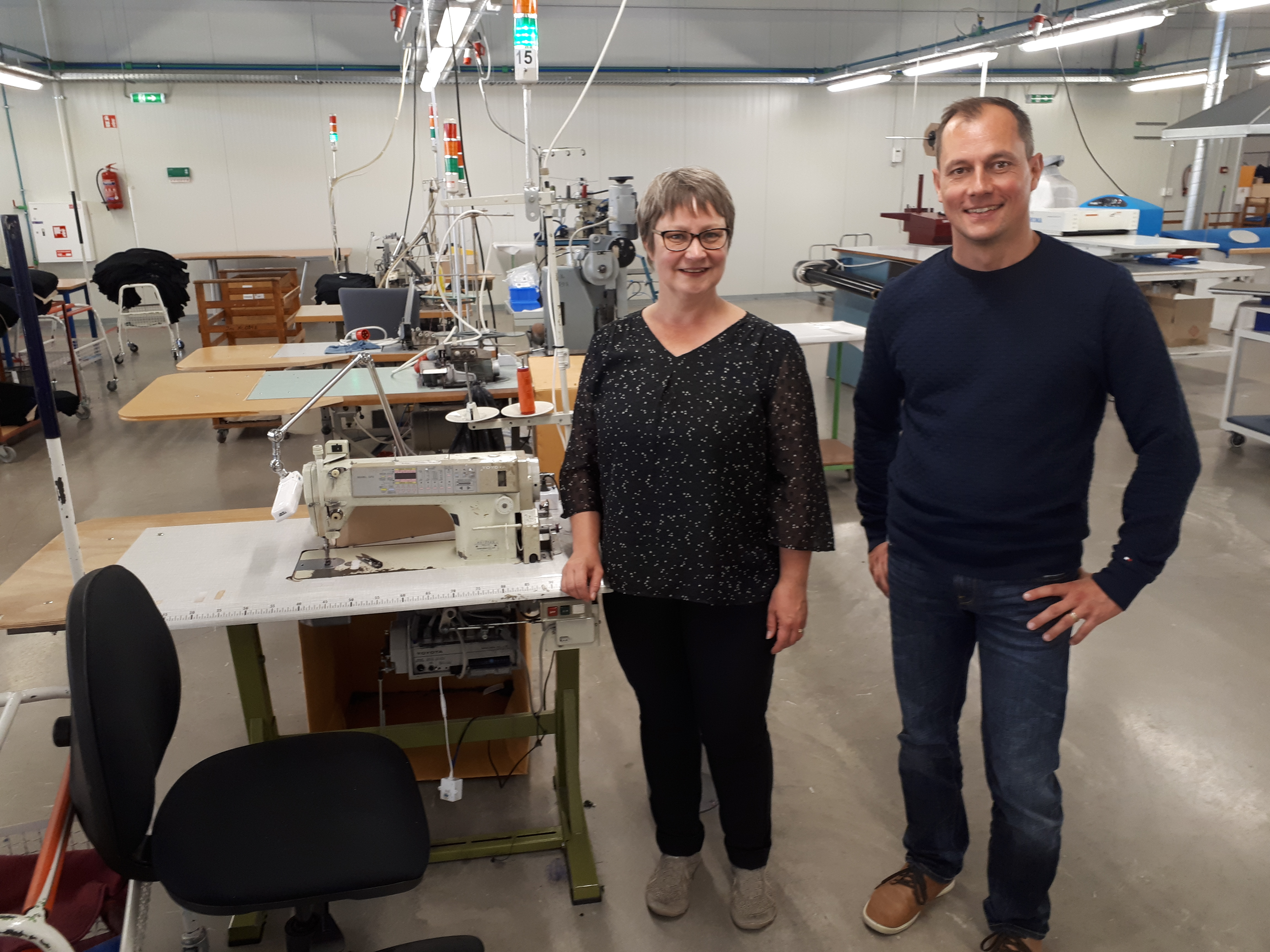 L4MS experts Päivi and Markus from VTT visiting the factory
